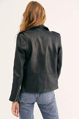 Free People Easy Rider Jacket by Understated Leather at Free People, Black, S