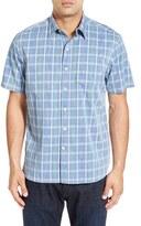 Tommy Bahama 'Penetela Plaid' Original Fit Short Sleeve Sport Shirt