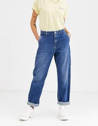 Carhartt Wip WIP pierce cargo jeans in midwash blue