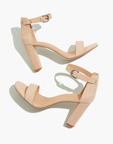 Madewell The Brooke Ankle-Strap Sandal in Embossed Leather