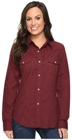 Roper 0735 Solid Broadcloth Fancy Shirt in Wine