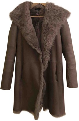 Joseph Grey Shearling Coat for Women