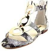 BCBGeneration Faroh Women Open Toe Leather Gold Gladiator Sandal.