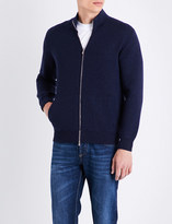 Brunello Cucinelli zip-up cashmere bomber jacket