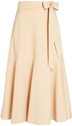 Intermix Luanna Belted Midi Skirt