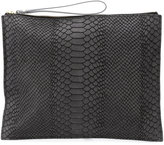 Danielle Foster zipped rectangular clutch - women - Leather - One Size