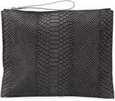 Danielle Foster zipped rectangular clutch