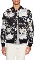 MSGM Men's Floral Printed Bomber Jacket