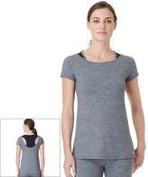 Cuddl Duds Women's SportLayer Racerback Crewneck Workout Tee