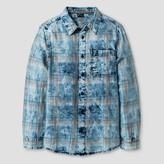 art class Boys' Acid Wash Woven Button Down Shirt - Art Class True Blue