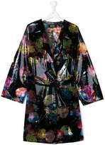 Diesel Teen floral-print raincoat