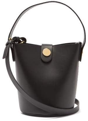 Sophie Hulme Nano Swing Leather Bucket Bag - Womens - Black