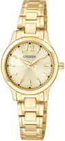 Citizen Women's Gold-Tone Stainless Steel Bracelet Watch 25mm EL3032-53P