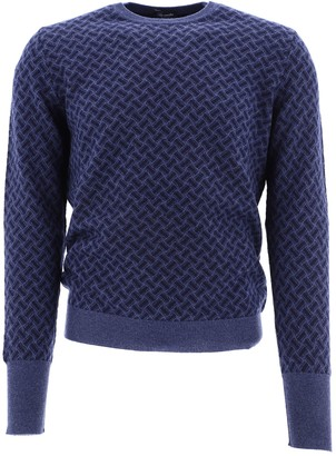 Drumohr Patterned Crewneck Sweater