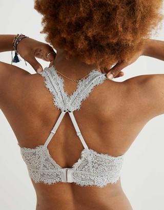 aerie Eyelash Lace Plunge Bralette