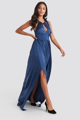 Trendyol Neck Detailed Evening Dress Copper