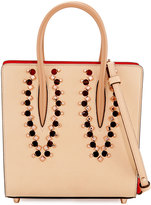 Christian Louboutin Paloma Small Studded Leather Tote Bag, Neutral/Multi