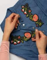 Orelia Double Trailing Flower Embroidery Patch