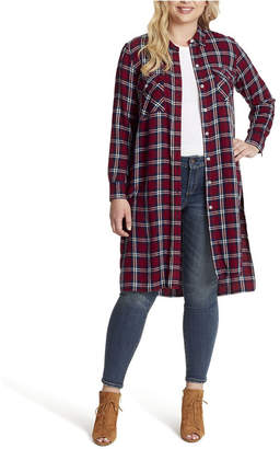 Jessica Simpson Junior Lori Button Up Duster Shirt Top