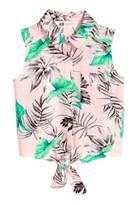 H&M Tie-front Blouse
