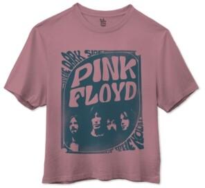 Junk Food Clothing Cotton Pink Floyd Cropped Crewneck T-Shirt
