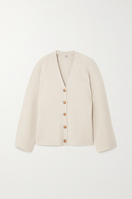 Totême Ribbed Wool-blend Cardigan - Cream
