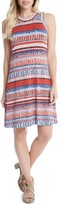 Karen Kane Women's Painted Stripe A-Line Dress