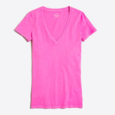J.Crew Factory Neon featherweight slub cotton V-neck T-shirt