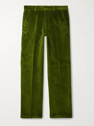 Ami Brown Cotton-Corduroy Suit Trousers