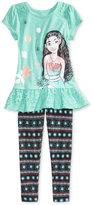Disney Disney'sandreg; Moana 2-Pc. Shirt and Leggings Set, Little Girls (4-6X)