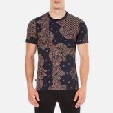 Vivienne Westwood Anglomania Bandan Tshirt - Terracotta/navy
