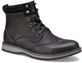 Members Only Men's Rugged Leather Wing-Tip Boots