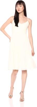 Cupcakes And Cashmere Women's Deena Pleated Skirt Midi Dress