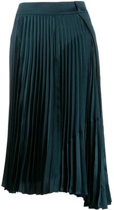 Vince satin pleated skirt