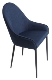 Moe's Home Collection Lapis Dining Chair Dark Blue-Set Of Two