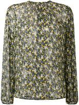 MSGM dove & flower print blouse - women - Silk - 38