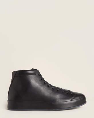Rag & Bone Black RB1 Leather High-Top Sneakers