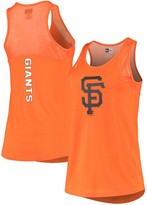 New Era Women's Orange San Francisco Giants Mesh Insert Jersey Tank Top