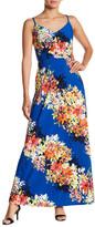 Maggy London Bloom Stripe Print Maxi Dress
