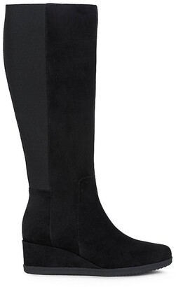 Geox Anylla Knee-High Boots in Suede