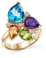 Bloomingdale's Multi Gemstone and Diamond Ring in 14K Yellow Gold - 100% Exclusive