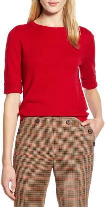 Halogen x Atlantic-Pacific Elbow-Length Sleeve Sweater