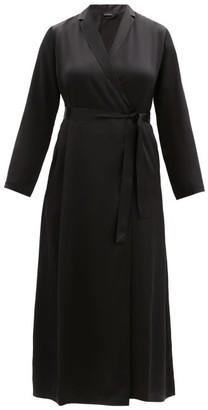 La Perla Silk-satin Robe - Womens - Black