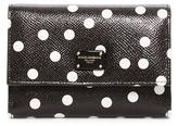 Dolce & Gabbana Leather Polka Dot Trifold Wallet