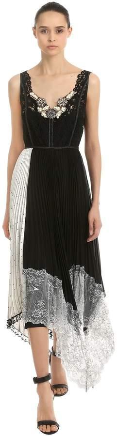 Antonio Marras Embellished Patchwork Lace Midi Dress