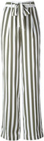 Equipment stripe high waist trousers - women - Silk - L