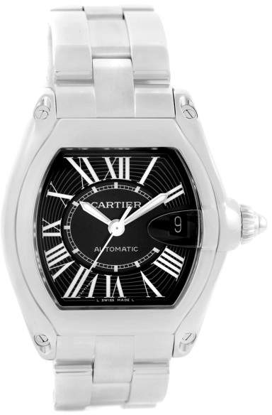 Cartier Roadster W62041V3 Stainless Steel Automatic Black Dial 38mm Mens Watch