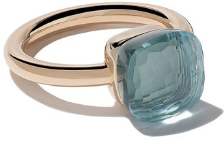 Pomellato 18kt rose & white gold Nudo light blue topaz ring
