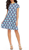 J.Mclaughlin J. McLaughlin Cap Sleeve Printed Swing Dress