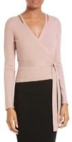 Diane von Furstenberg Women's Metallic Knit Wrap Cardigan
